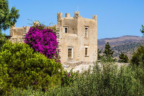 Belonia Tower in the countryside of Naxos