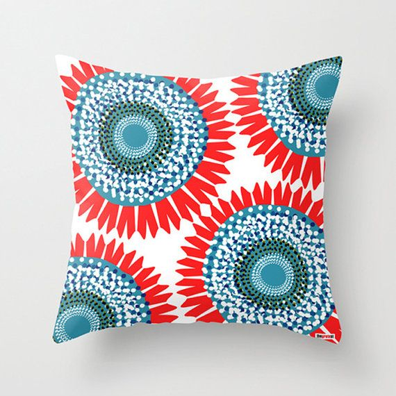 20x20 pillow cover  Decorative throw  Floral pillow by thegretest