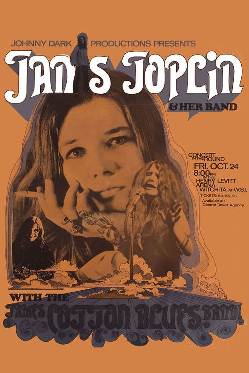 Poster for a Janis Joplin concert, 1969.