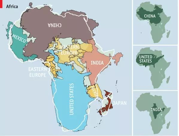 Real Size Of World Map