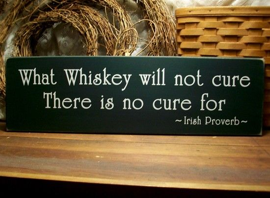 What Whiskey will not cure Irish Proverb Wood door CountryWorkshop