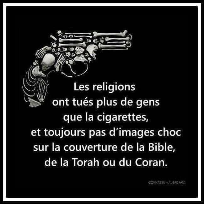 """Résultat de recherche d'images pour """"les religions tuent plus que la cigarette"""""""