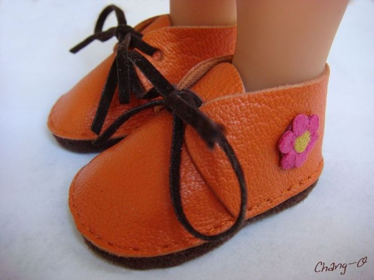 Clarks_cuir_orange