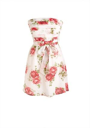 dELiAs > Red Rose Horizontal Pleat Dress > dresses > casual