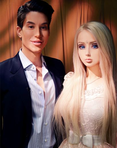"""Human Ken Doll about Human Barbie: """"I don't get why people think she's so interesting. She has extensions. She wears stage makeup. She's an illusionist."""""""