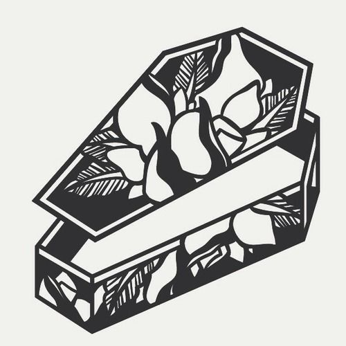 • Illustration death tattoos rose digital art coffin tattoo flash traditional traditionaltattoo illfitlife •