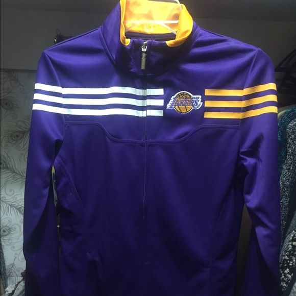 Lakers jacket - adidas Worn once to a laker game Adidas Jackets & Coats