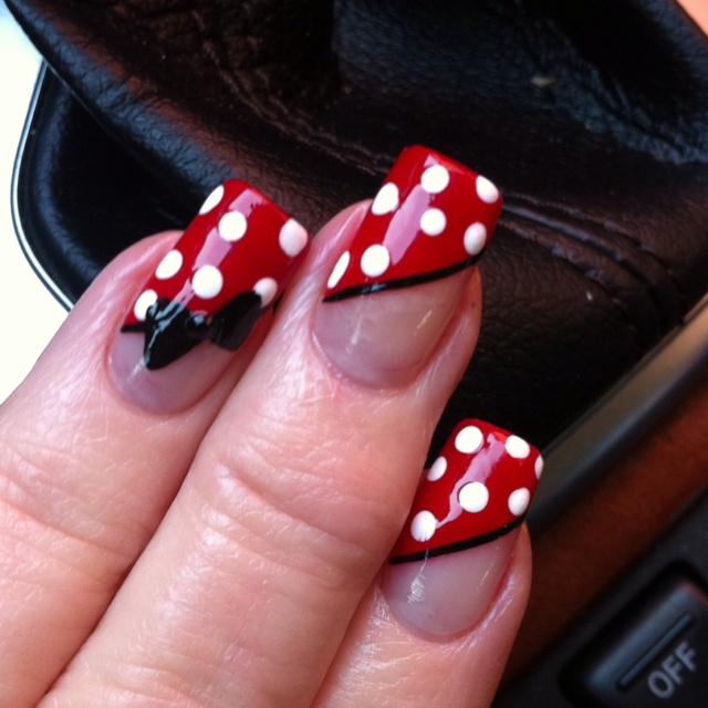 Minnie Mouse nails - 100 Best Minnie Mouse Nails Images On Pinterest Mice, Minnie