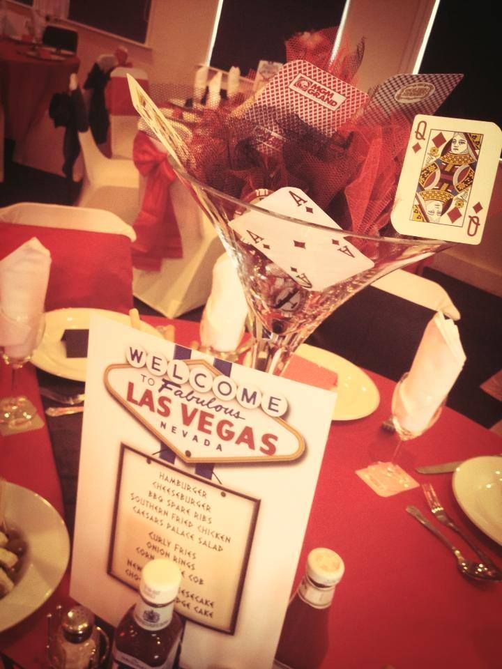 These Centerpieces are cute! Minus the wedding invitation lol