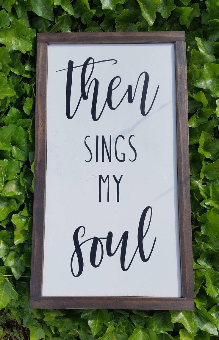 then sings my soul hymn lyrics white background black