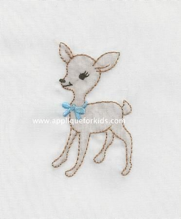 Shadow Work & Embroidery :: Babies :: Shadow baby Deer Machine Shadow Work