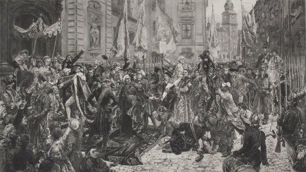 Ogłoszenie Konstytucji Trzeciego Maja - Jan Matejko