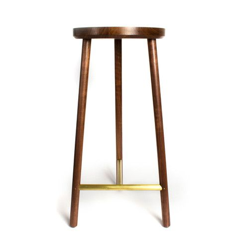 Walnut Brass Stool  sc 1 st  Pinterest & 47 best Benches u0026 Stools images on Pinterest | Benches Stools and ... islam-shia.org