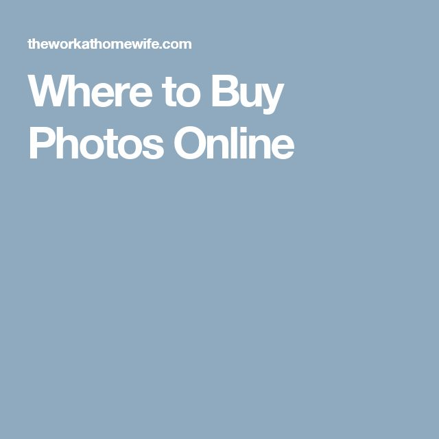 Where to Buy Photos Online