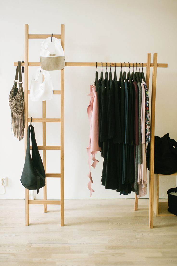Hanger by Tb & Ajkay, Clothes from Jascha and Riikka Steinberg, Bags by Minimo and Kamelo.  photo: Hey Look / Michaela Egger
