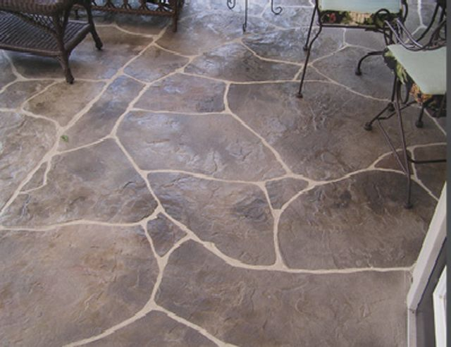 Stamped concrete patio-this looks really cool!