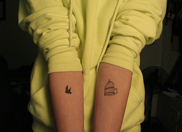 @aartipaw we could get this, elsewhere, and each get a bird and cage, one on shoulder and one on opposite lower backs?