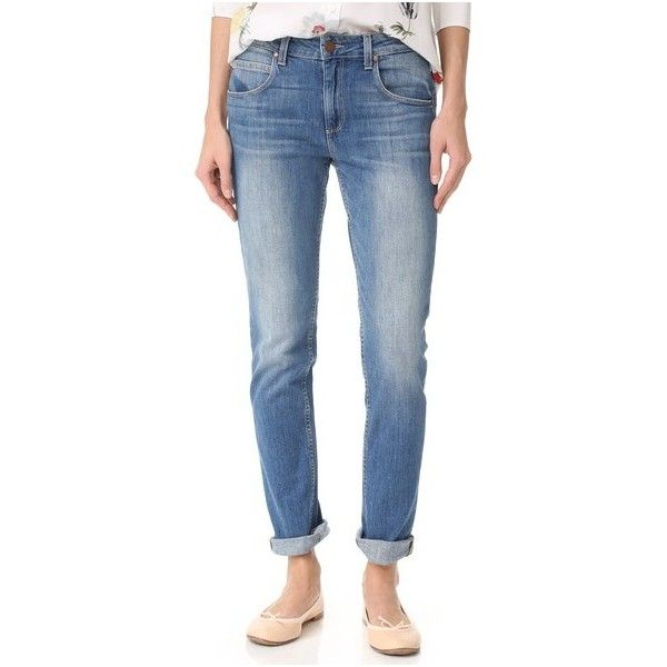 PAIGE Rosie HW x PAIGE Astrid Skinny Jeans (830 QAR) ❤ liked on Polyvore featuring jeans, rita, blue jeans, paige denim, faded blue jeans, faded jeans and zipper jeans