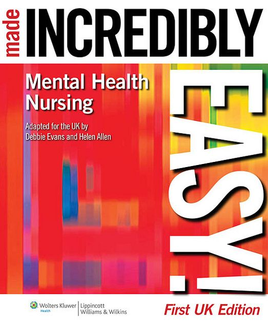 Students beginning their mental health nursing courses, those new to the field, and experienced mental health nurses will find Mental Health Nursing Made Incredibly Easy! an accessible guide to this complex subject. Written in the award-winning Incre To find out more information about schizoaffective disorder  please visit http://mybrainsick.com.
