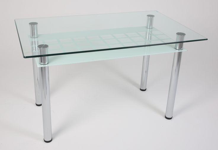 Ürün Kodu: 131 Beyaz Kareli Glass Table Furniture - Cam Masa Mobilya