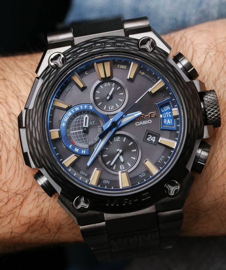 Hands-on review & original photos from Baselworld 2017 of the Casio G-Shock MR-G MRGG2000HT-1A Hammer Tone watch with price, specs, analysis.