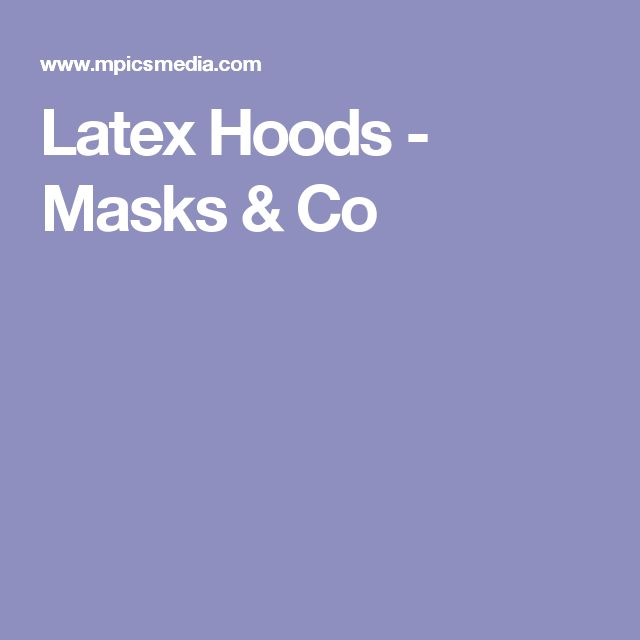 Latex Hoods - Masks & Co
