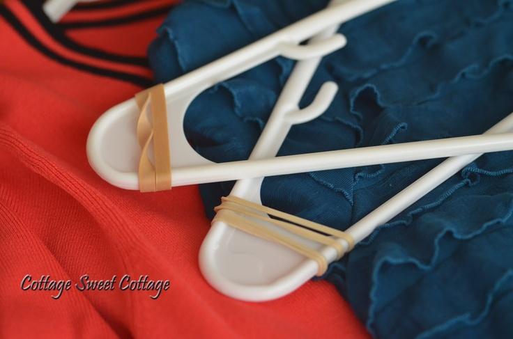 Cottage Sweet Cottage: Super Easy DIY Non~Slip Hangers