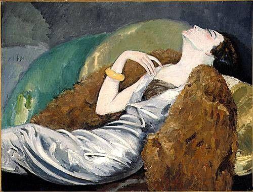 """Kees Van Dongen (Dutch Fauvist Painter, 1877-1968) """"La femme sur le sofa"""" vers 1930 ~Repinned Via maria papachristou"""