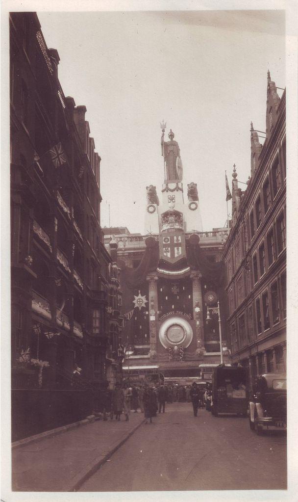 Selfridges, Oxford Street, seen from Balderton Street. 1937