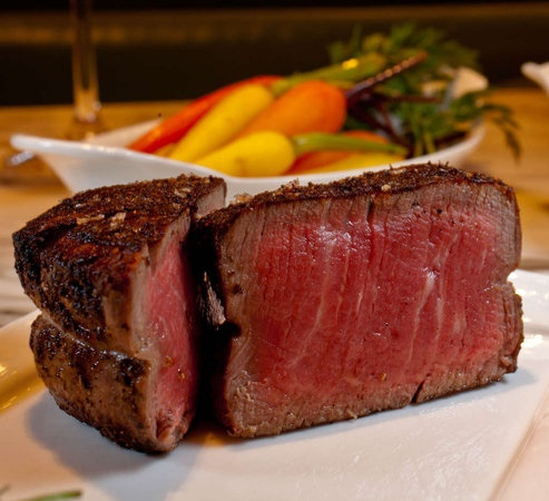 Barclay Prime    High-end meatery across from Rittenhouse Square delivers the full-on steakhouse experience in an opulent, chic setting.     Get the: kobe sliders, ribeye, crab cakes. Everyone talks about: the knife selection; the library feel.