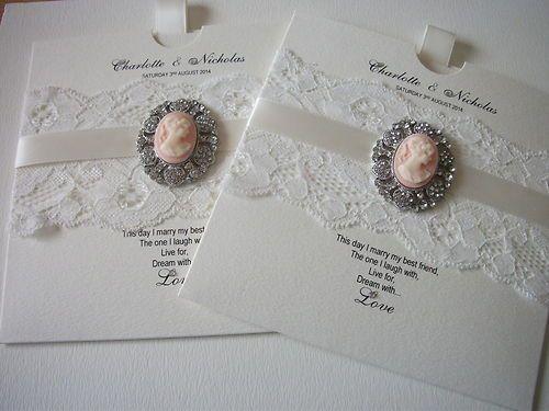 Vintage Handmade Wedding Invitations: Handmade Couture Wedding Invitations Vintage Cameo X 1 Sample