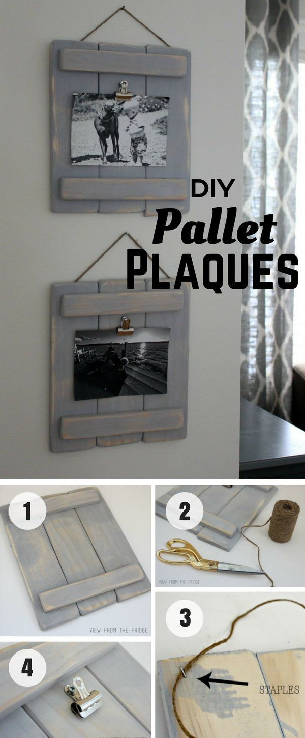Wood finials for crafts - Diy Pallet Plaques