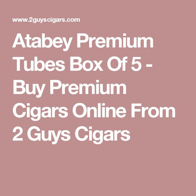 Atabey Premium Tubes Box Of 5 - Buy Premium Cigars Online From 2 Guys Cigars