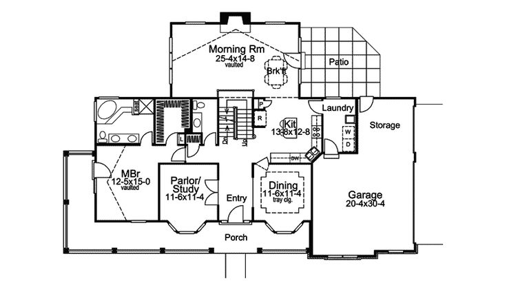 Traditional house plan first floor 007d 0100 from for House plans and more com home plans