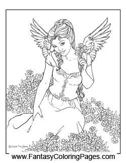 do you long tooexperience the angelic these 16 coloring pages may not get you to that point tonight but they certainly cant hurt