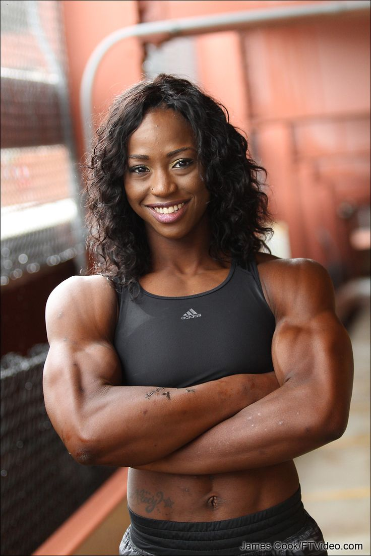Female bodybuilders flexing video clips for Lady fitness