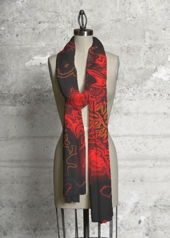 Modal Scarf - Orange Lilies by VIDA VIDA 5ukYhwv