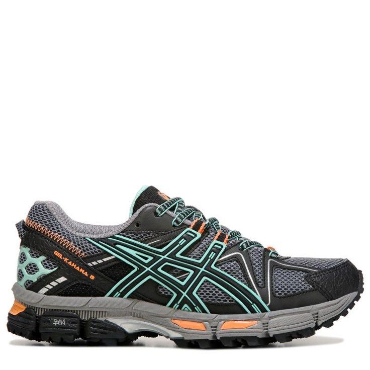 ASICS Women's Gel-Kahana 8 Running Shoes (Black / Green / Oran)
