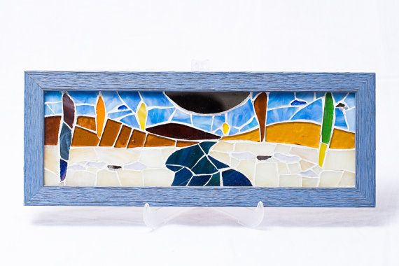 River by Olça Tansuk Wall Hanging Glass mosaic by AtelierThalia