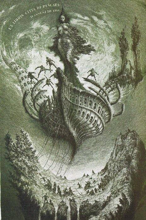 Albin Brunovsky: Il Fascino, Surrealist Exlibris, Albinism Brunovski, Fascino Della, Illustration, Ex Libri, Art, Albín Brunovský, Della Mort