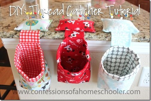 FREE Thread Catcher Tutorial ~~ By erica | Home Economics, Homeschool, quilting, Sewing