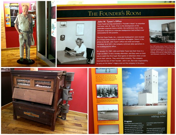 Collage of displays in the Tyson Foods history museum.  #MealsTogether #shop #cbias #recipe @TysonFoods