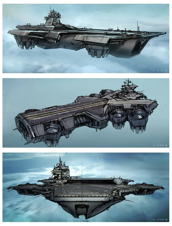 Floating Aircraft Carrier | The Avengers Concept Art by ...