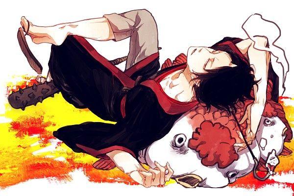 Tags: Anime, Fish, Demon, Goldfish, Single Horn, Hoozuki no Reitetsu, Hoozuki (Hoozuki no Reitetsu)