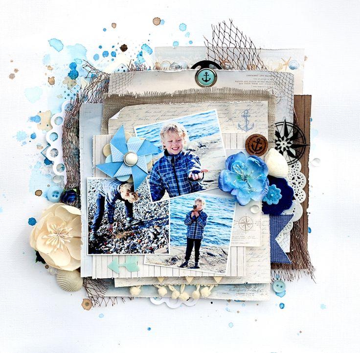 Christin aka Umenorskan scrapper: På stranda - May Issue Inzpira Magazine