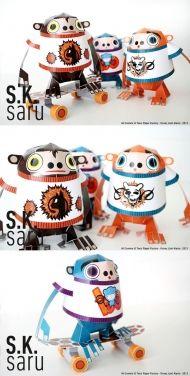 SK 사루-3D 원숭이 종이 장난감