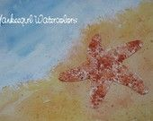 Starfish by the Sea- Reproduction of Watercolor Painting