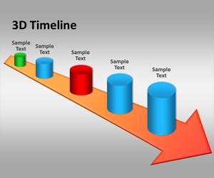 3D Timeline PowerPoint Template Is A Free 3D Timeline Template That You Can  Use To Make
