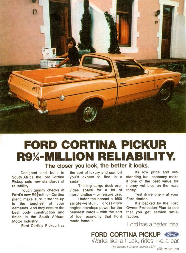 Ford Cortina Pickup produced in South Africa
