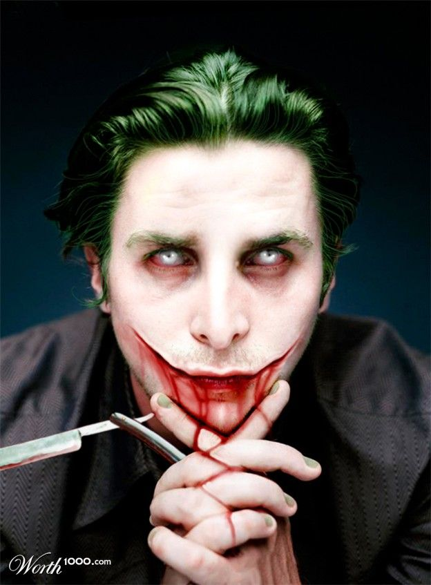 Evil Celebrity Clowns 2 - Worth1000 Contests.  Christian Bale